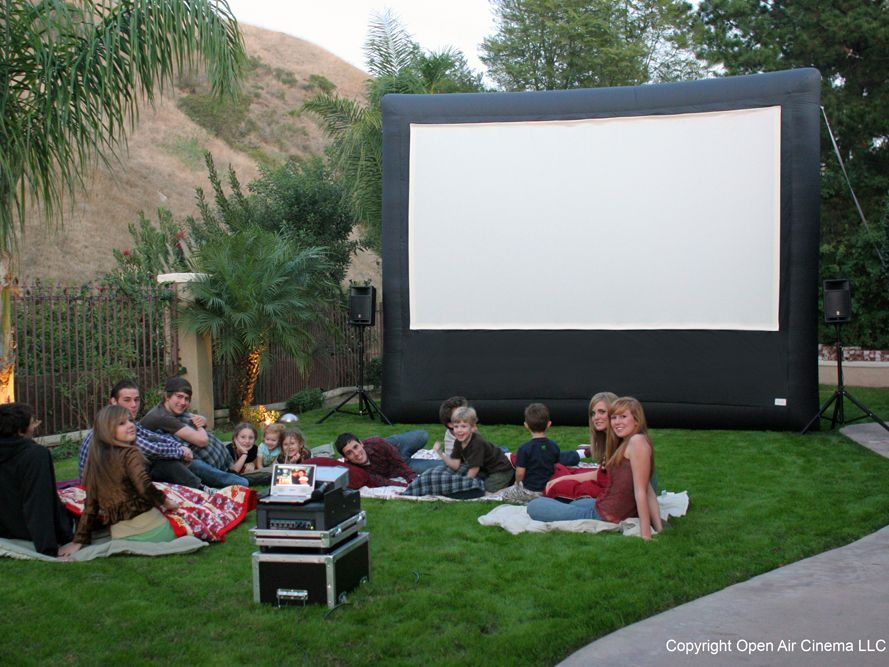 How to make a large outdoor movie screen