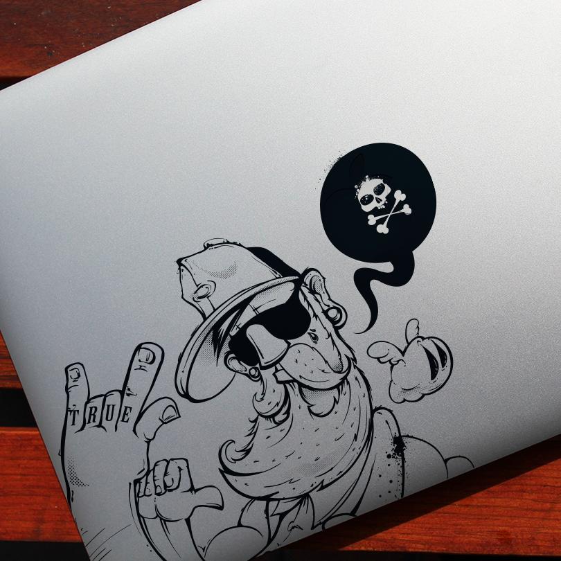 Convierte tus ilustraciones en stickers y personaliza tu computadora.