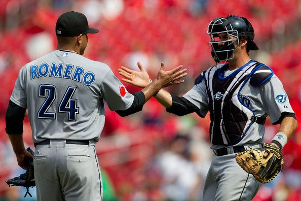 J. P. Arencibia and Ricky Romero...hey @Courtney Thacker ! High five to the future haha
