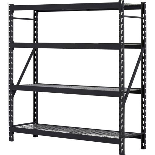 Edsal 4 Shelf Industrial Storage Shelving Unit 77 W X 24 D X 72 H
