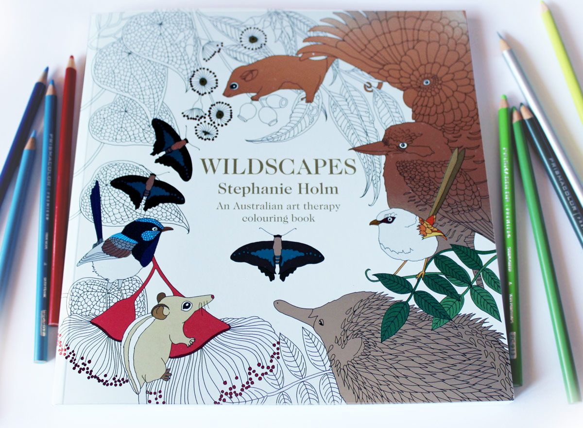 The super shiny cover of my colouring book 'Wildscapes: An ...
