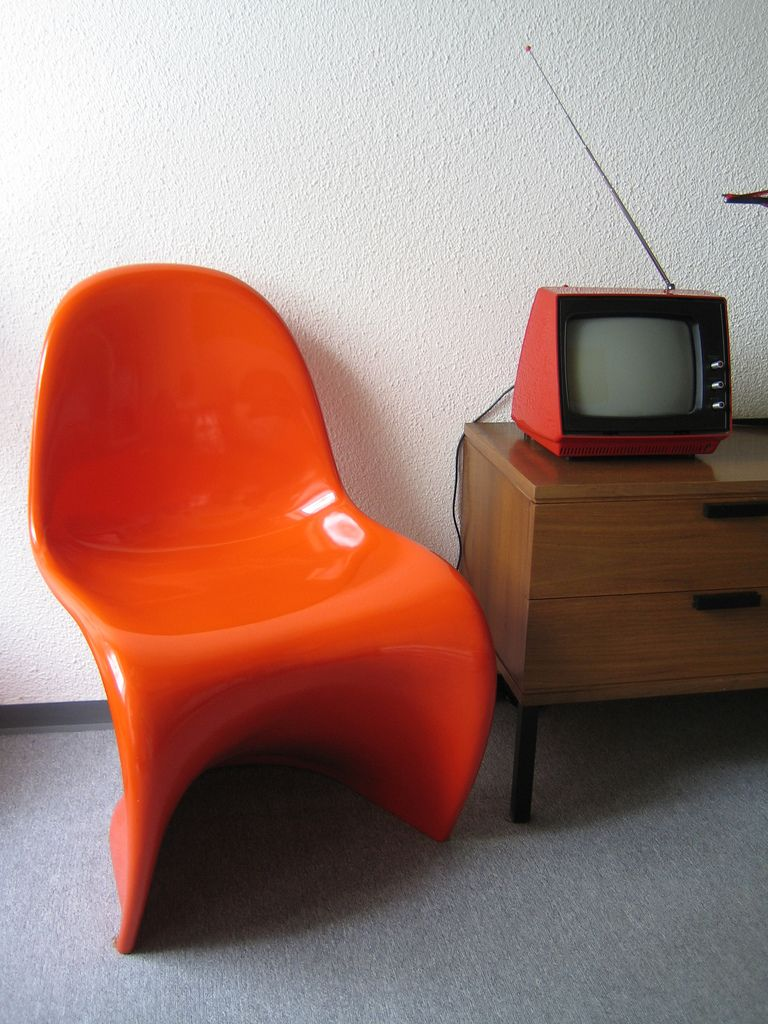 And Every Room Needs This Orange Chair: Verner Panton Chair By Hermann  Miller