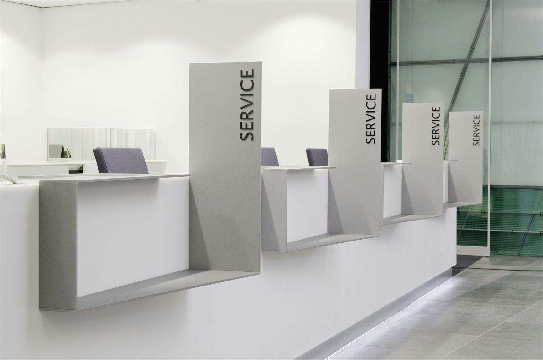 Stoccarda Himacs Bank Per La Bw Ahi Macs Per La Bw Bank A Stoccarda Bank Interior Design Counter Design Reception Desk Design