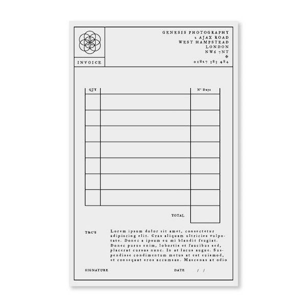 Elegant Functional Invoice Designs To Help You Leave A Great Impression Invoice Design Photography Invoice Web Design