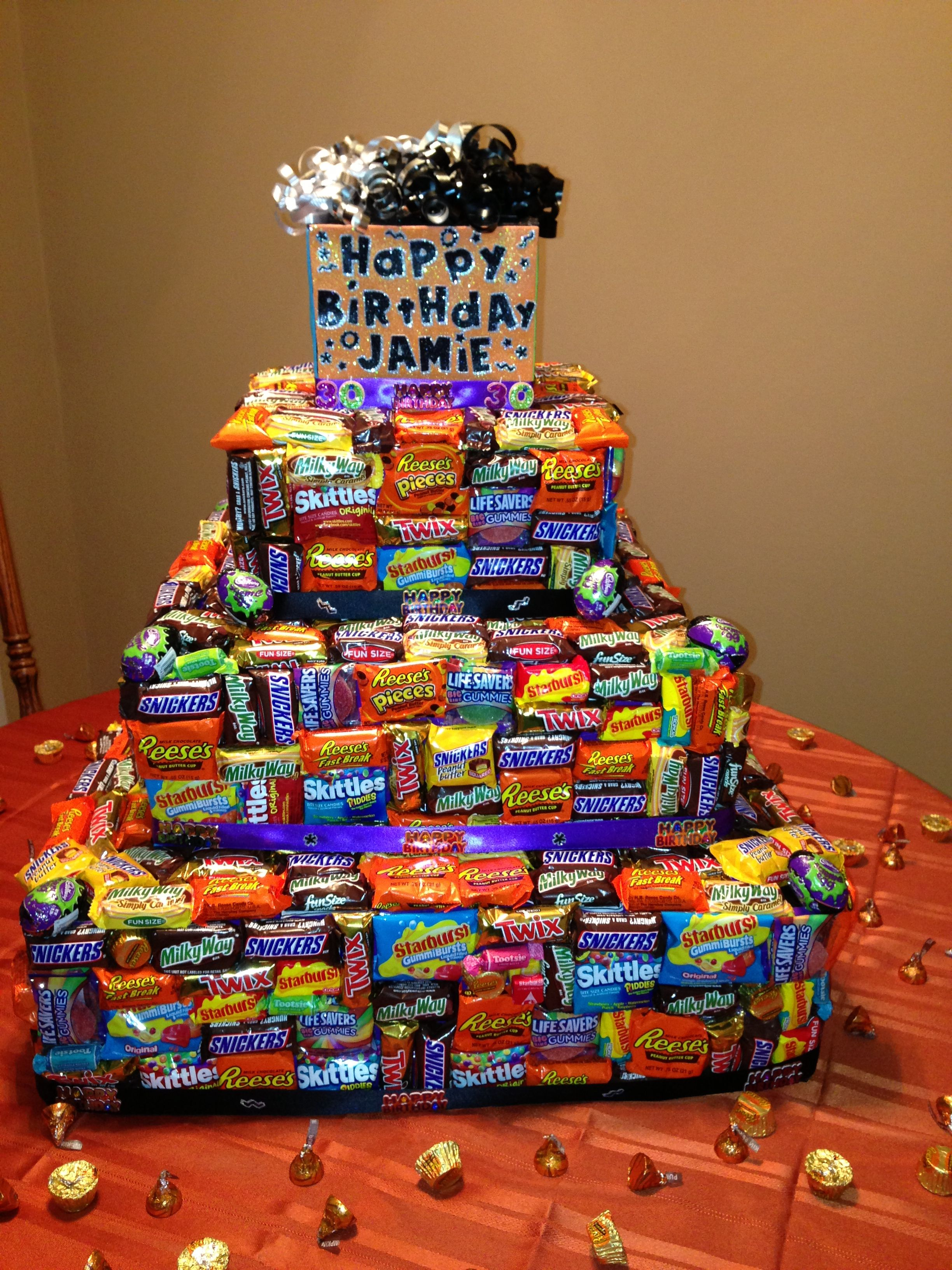 My Husbands 30th Birthday Candy Cake Sweet Tooth Pinterest