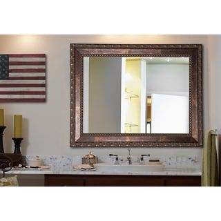 Shop for American Made Rayne Roman Copper Bronze Vanity Wall Mirror ...