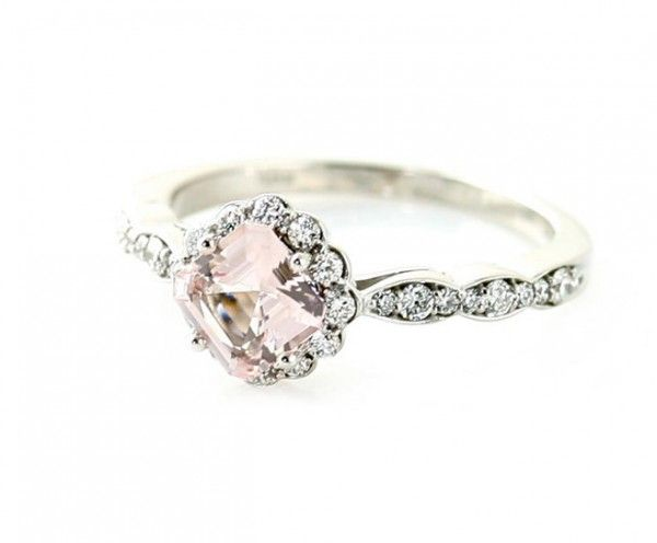Vintage Style Engagement Rings White sapphire Bridal jewelry and