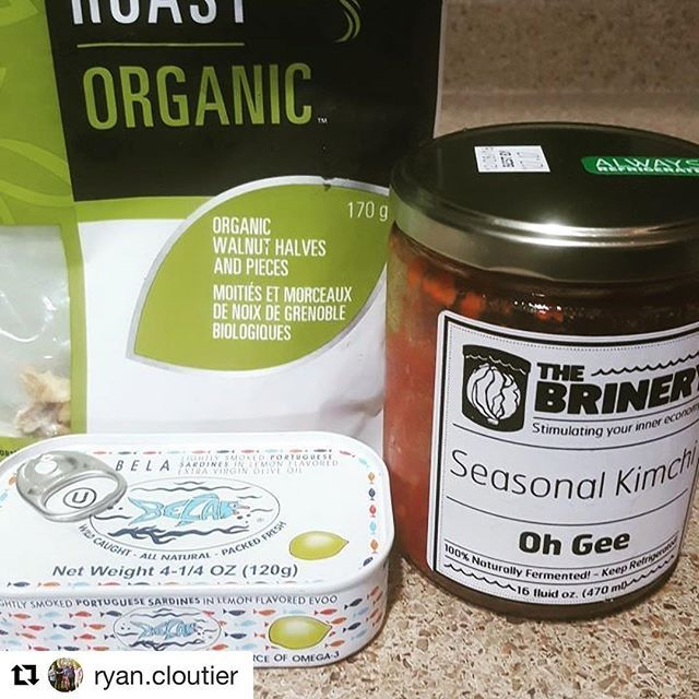 #Repost @ryan.cloutier ・・・ When you don't feel like cooking lunch. #letfoodbethymedicine #functionalmedicine  #holistic #health #sardines #fermented