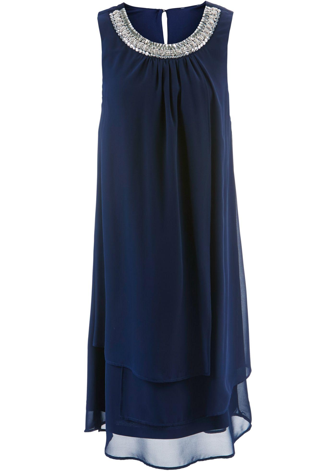 wundervolles kleid mit perlen - dunkelblau in 2020