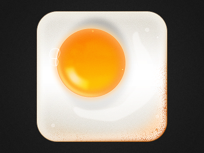 Cooked Egg Icon Bigger App icon, Ios app icon, How to