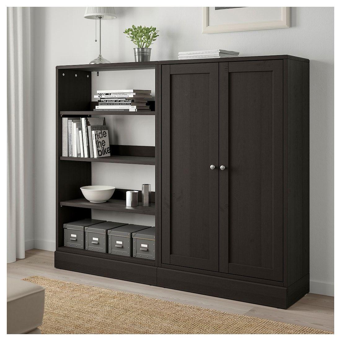 HAVSTA Storage combination dark brown 63 3/4x14 5/8x52 3