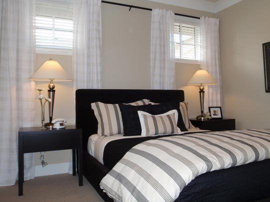 4 Basement Bedroom Beauties | Basement window treatments ...
