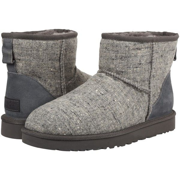 UGG Classic Mini Donegal (Grey Donegal) Men's Boots ($74) ❤ liked on