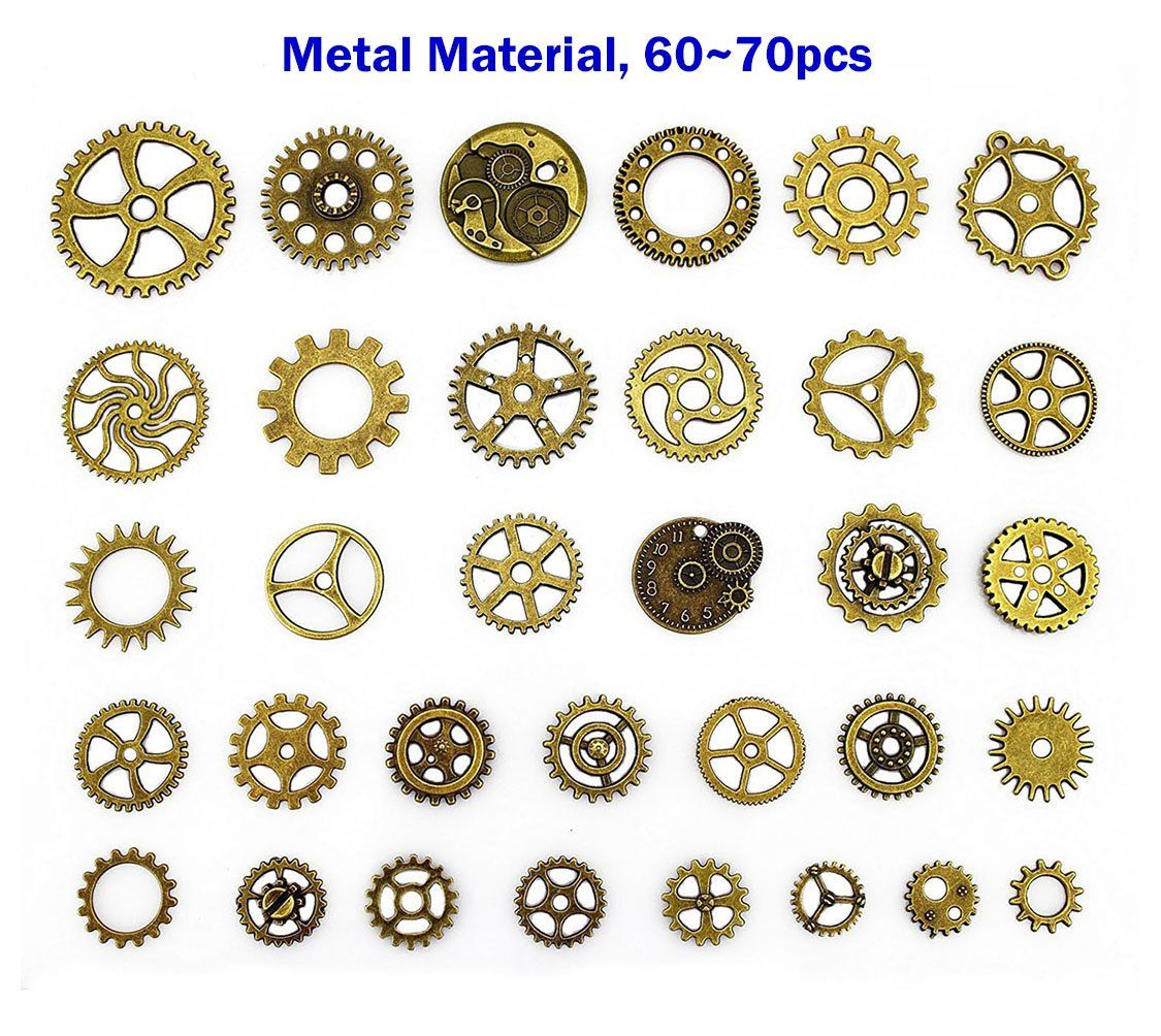 steampunk gears and cogs suta 110 grams approx 70 pcs steampunk
