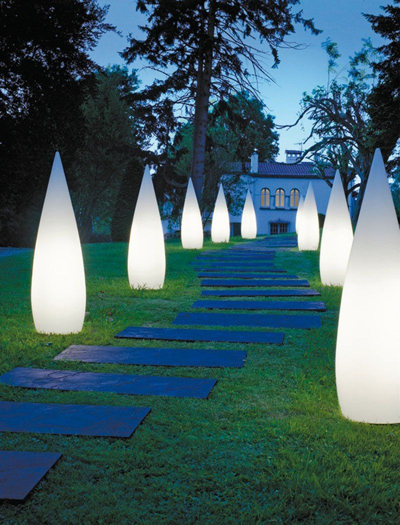 Contemporary and unique design of outdoor garden lighting - How to design outdoor lighting plan ...
