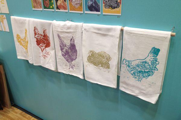Chicken tea towels!
