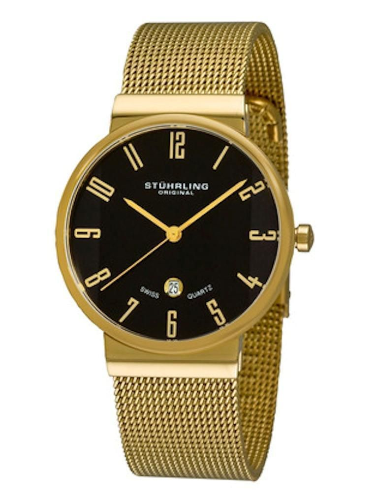 New In Box Stuhrling Original Lady Monticello Women S Gold Watch