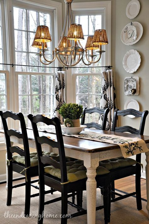 I Could Paint My Current Kitchen Chairs And Table Apron Legs Black Similar French Country Dining Room Decor Dining Room Small French Country Dining Room Table