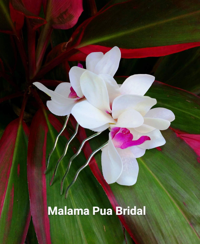 Wedding Hair Comb Bridal Hairpiece Floral Hair Accessory Tropical