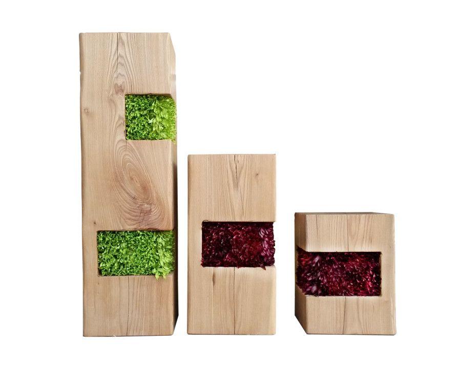 Tavolo Tronco ~ Tavolo realizzato con doghe in legno di diverse essenze e spessore