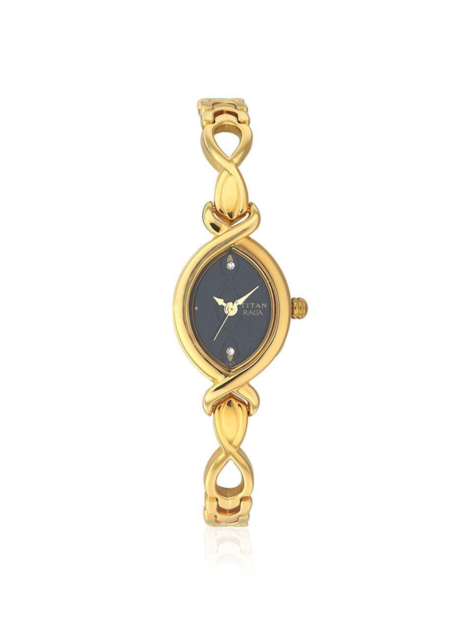 8adb8f4624e Titan Women s 2251YM12 Raga Jewelry Inspired Gold-Tone Watch at MYHABIT