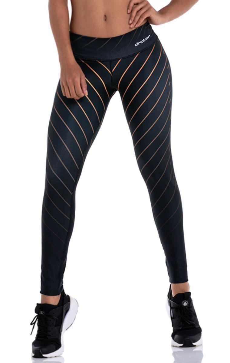 Drakon - Gold Lines Leggings Sport Outfits cb8a53a4e