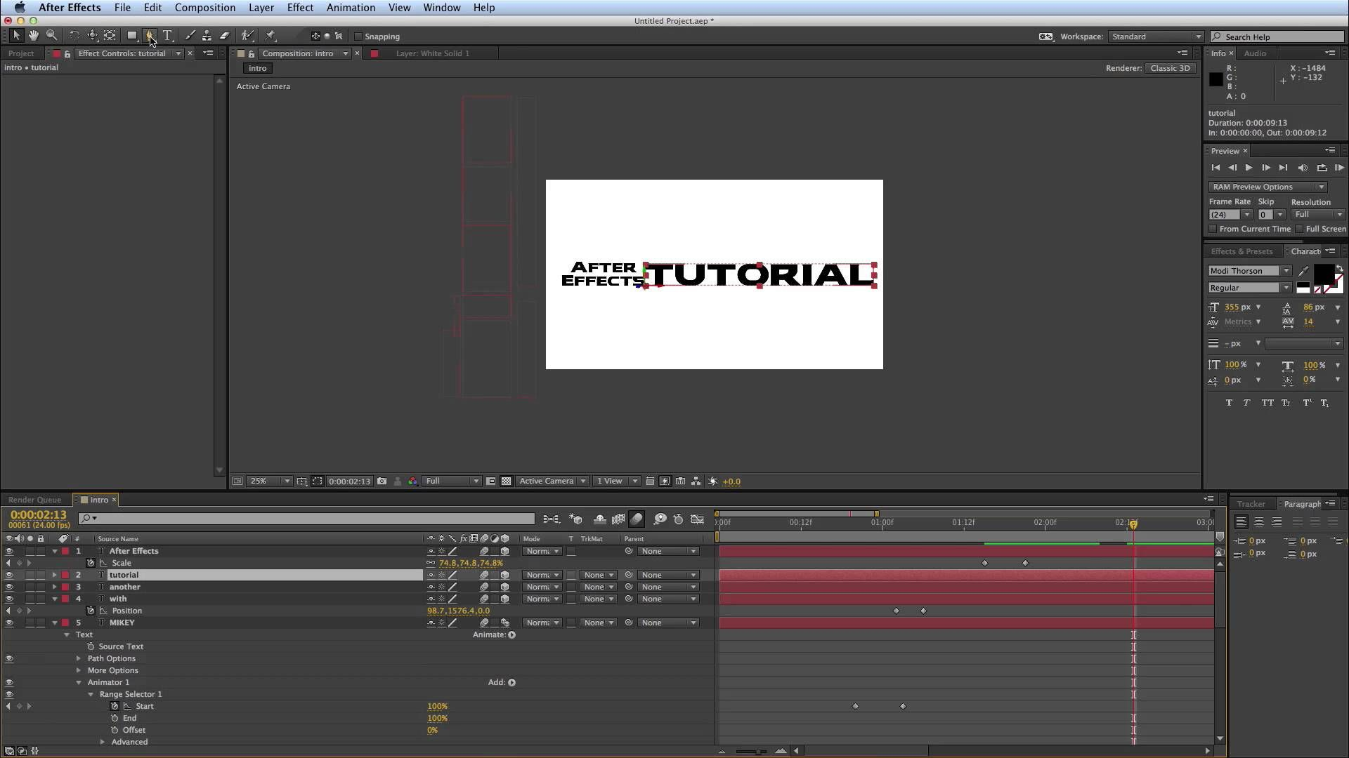 after effects kinetic typography