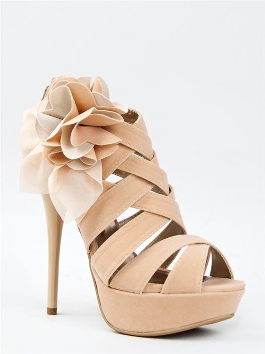 Qupid DAZZLING-48 Strappy Rose Stiletto Sandal | Shop Qupid Shoes