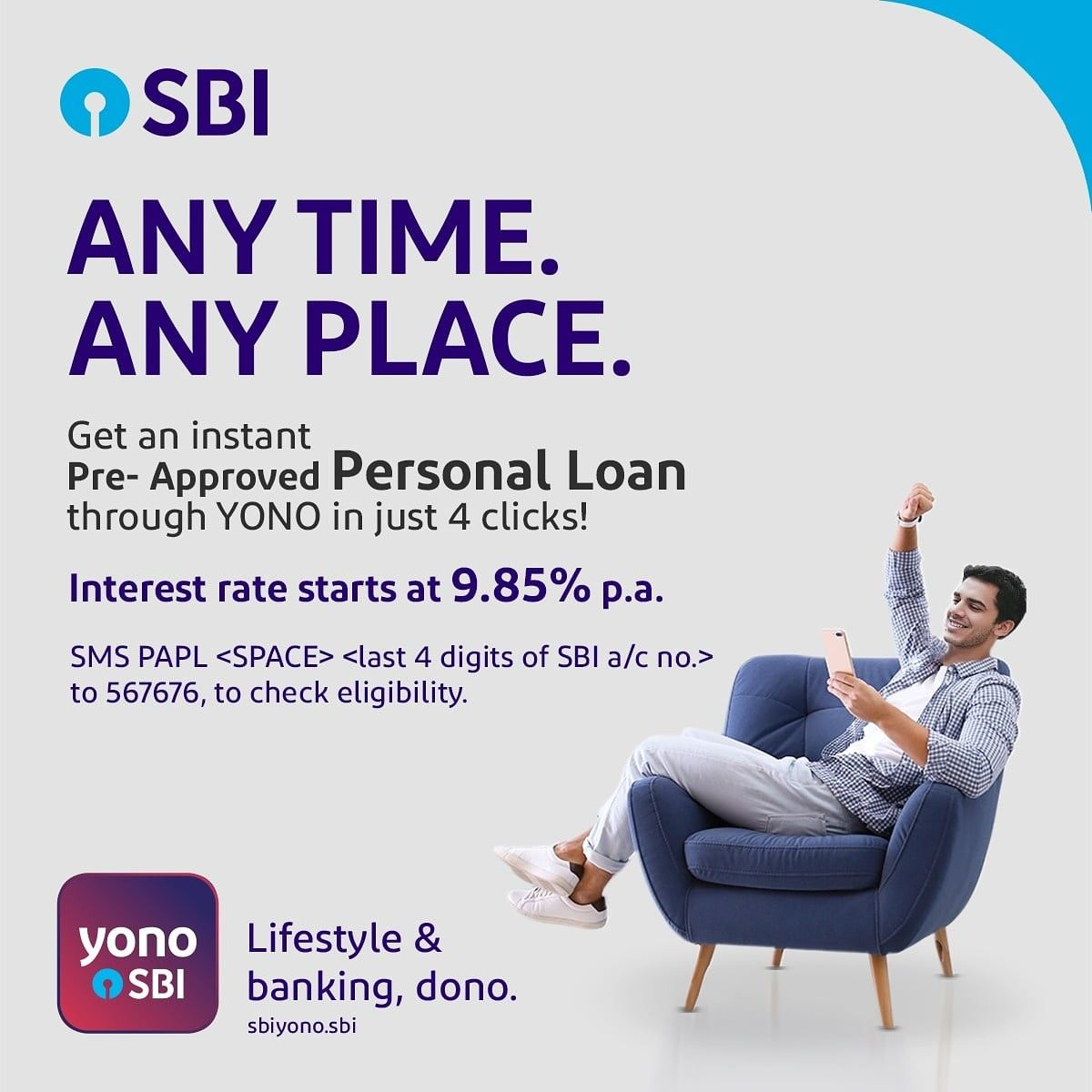 Get An Instant Pre Approved Personal Loan Through Yono In Just 4 Clicks In 2020 Personal Loans Person Loan