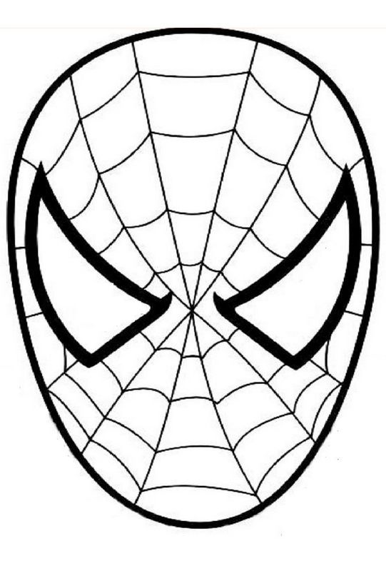 ausmalbild spiderman den spinnenmann maske masken clipart face sketches clipart face sketches
