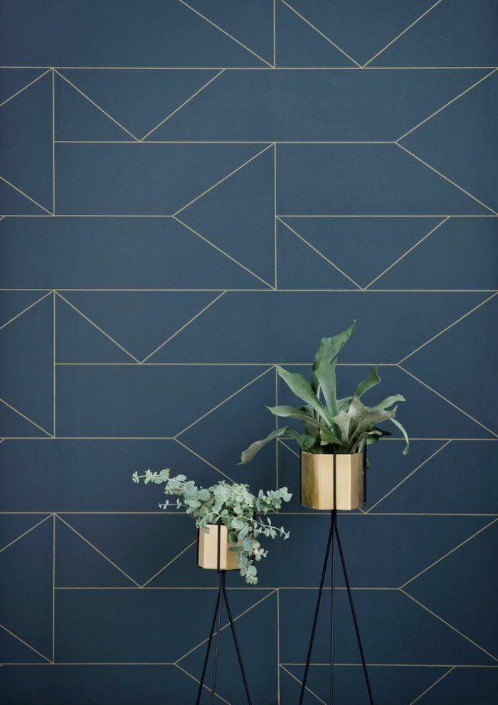 Le Papier Peint Geometrique En 50 Photos Avec Idees Bedroom