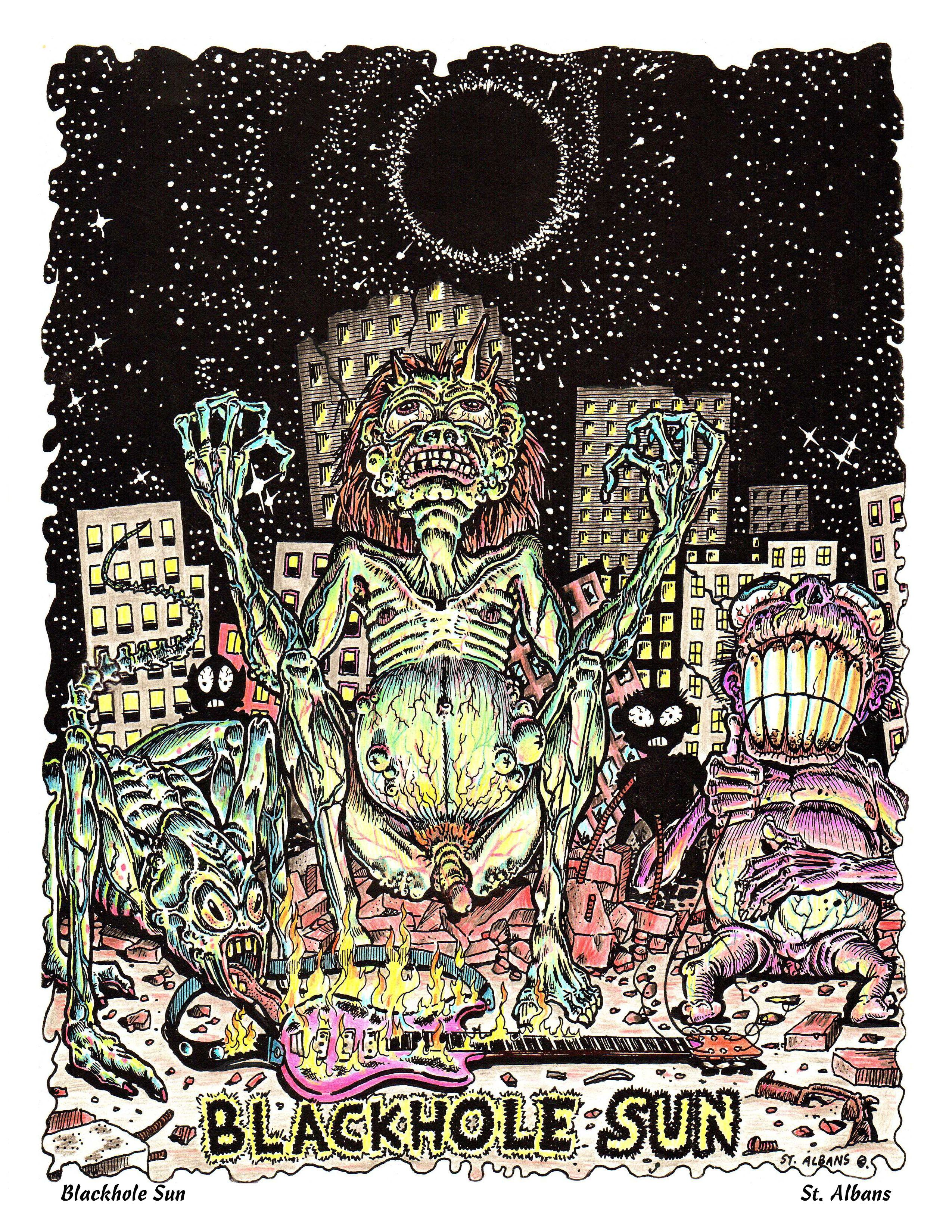 Black Hole Sun by St  Albans Lovecraftian Monsters in a Post