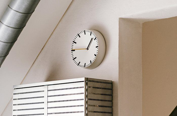 The Analog Wall Clock Designed By Shane Schneck For HAY Is An Aluminium Clock  Inspired By The Classic Barometer With A Modern Look.