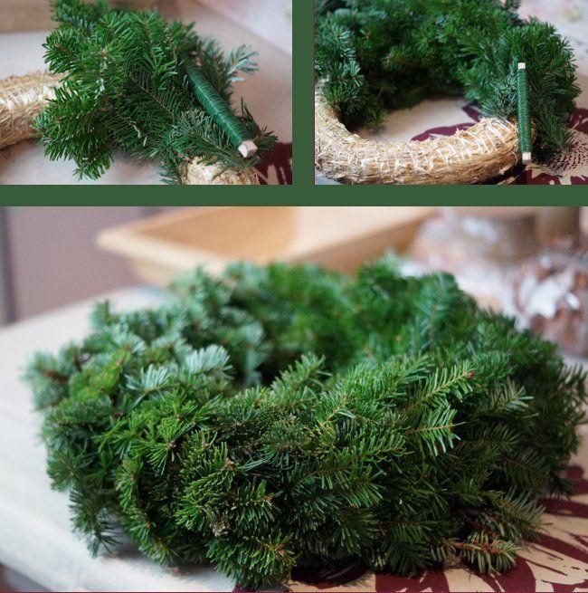 advent advent ein lichtlein brennt adventskranz binden binden und weihnachten. Black Bedroom Furniture Sets. Home Design Ideas