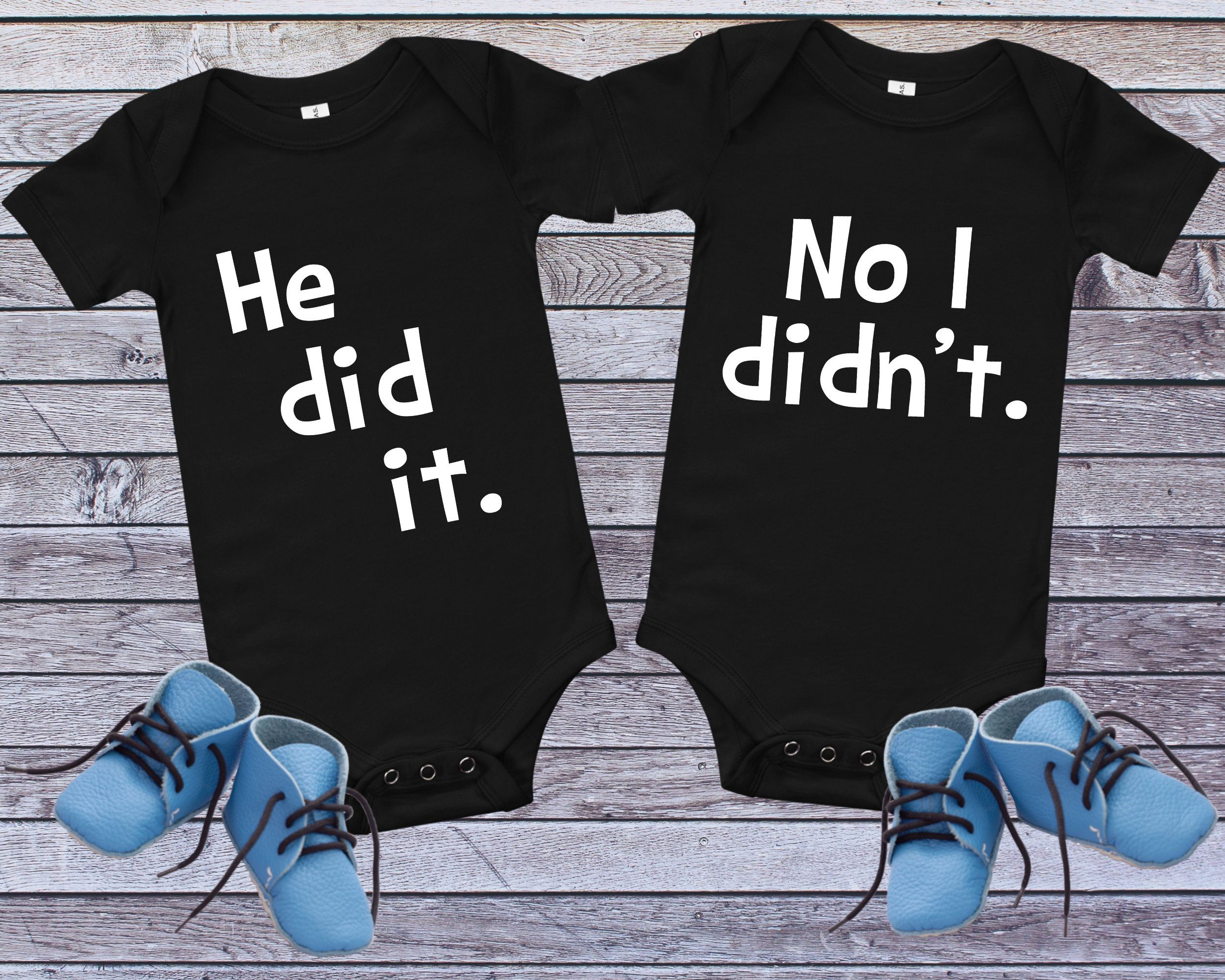 Boy Twins Funny Twin Shirt Baby Shower Gift Birthday Gift Best Buds Best Brothers Boy Bodysuits Cute Twin Shirts Twin Theme Bodysuit
