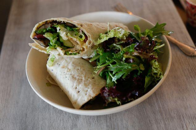 Healthy Wrap At Flower Child Restaurant In Phoenix Az