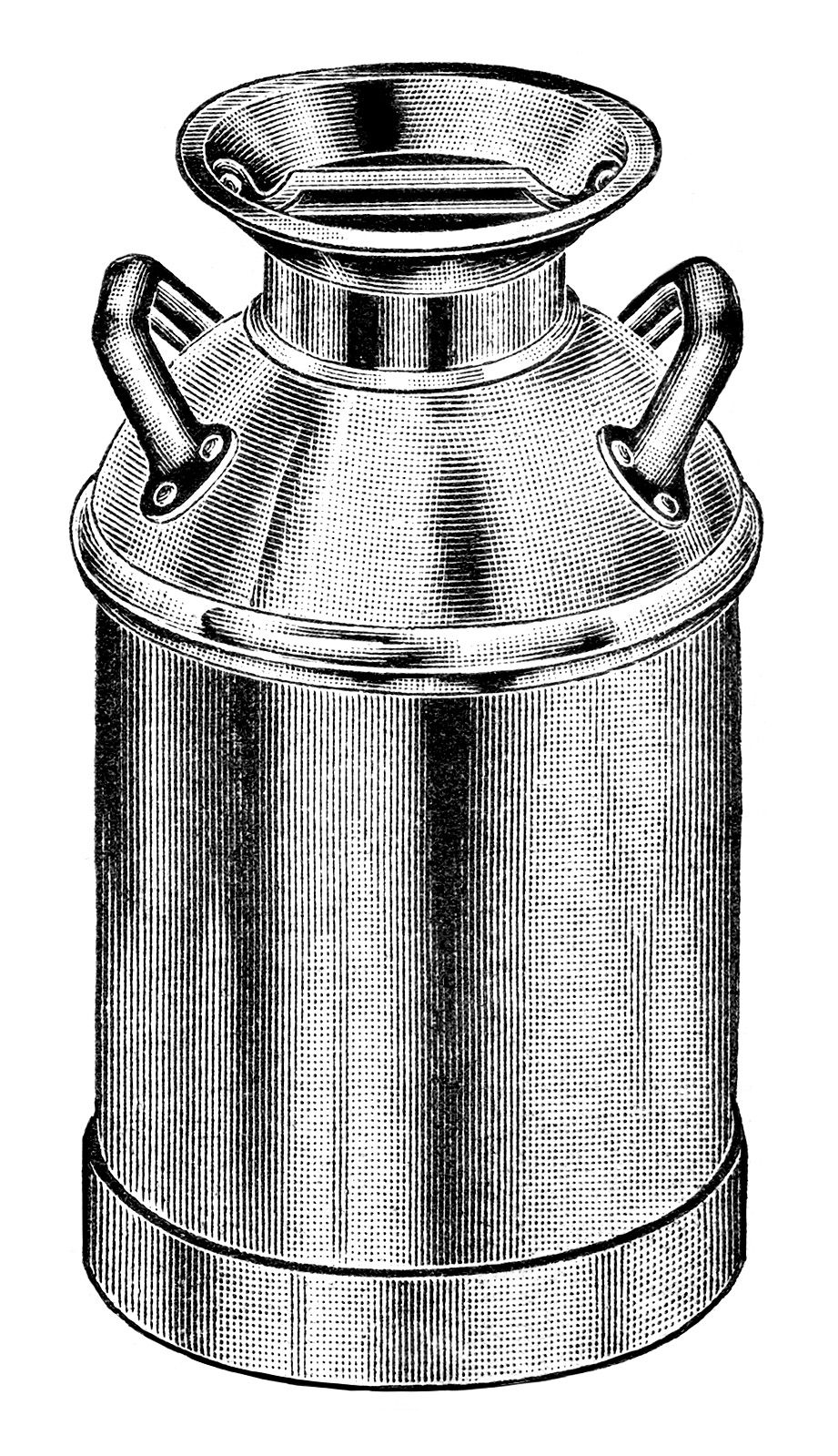 vintage milk can clip art, old fashioned milk container, antique ...