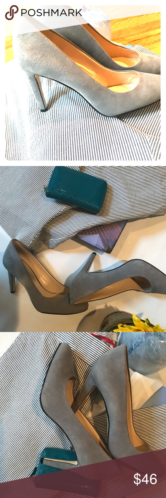 0610962fca8 Nine West Gray Suede Round Toe Pumps Worn Once! Nine West Gray Suede Round  Toe Pumps Nine West Shoes Heels