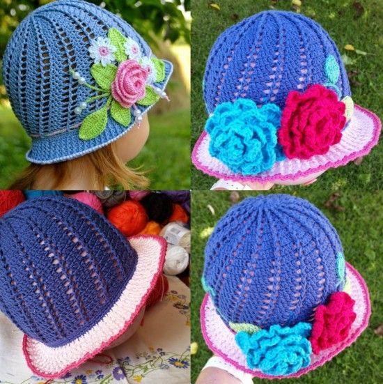 Little Girls Cloche Hat Pattern- the spiral one! | Häkeln