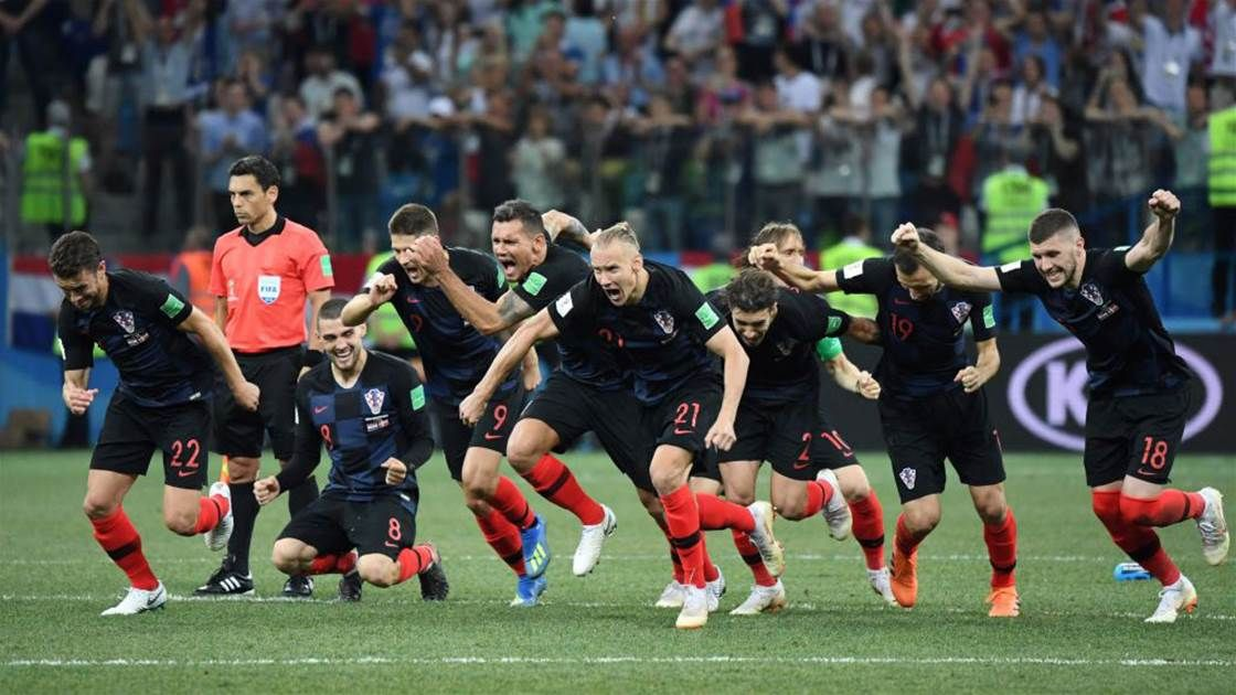 روس اور کروشیا پنالٹی شوٹ آؤٹ سے ورلڈ کپ فٹبال کے کوارٹر