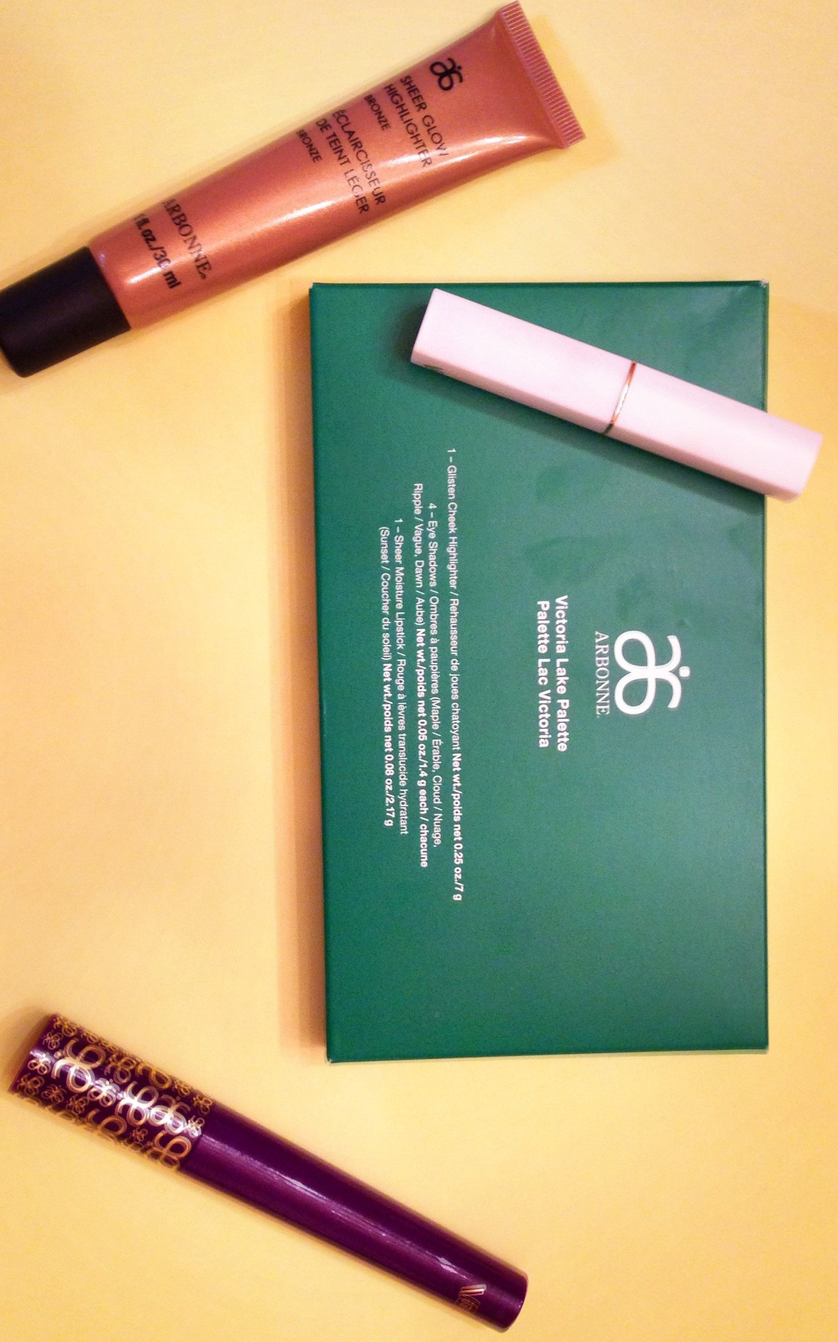 Review, B/A Comparison Photos Arbonne Holiday 2014 Makeup