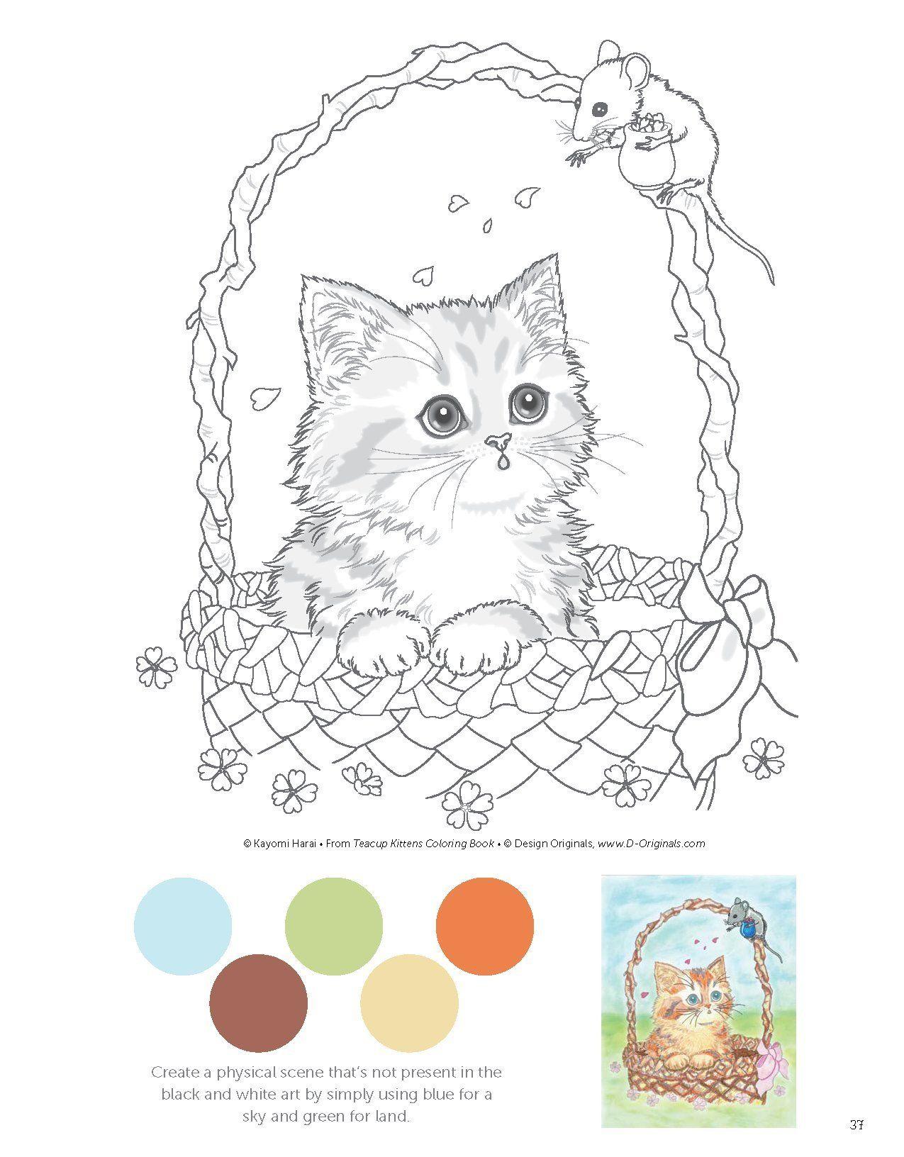 Teacup Kittens Coloring Book Design Originals Kayomi Harai 9781497202269 Amazon Com Books Kittens Coloring Kitten Coloring Book Designs Coloring Books