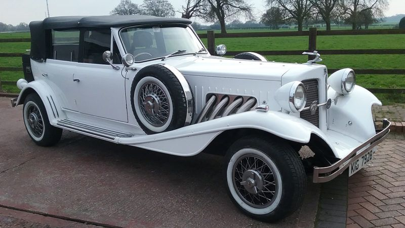 Beauford Convertible Vintage Wedding Car A True Fairy Tale Vintage Style Convertible Based On The 1930 S Wedding Car Vintage Car Wedding Wedding Car Hire