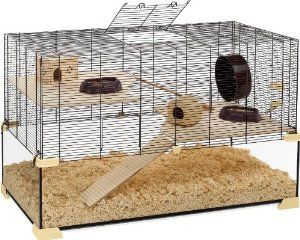 Ferplast Karat 100 Glass Hamster Cage This Is A Large Glass Cage With A Complete Upper Section Made From Wire Mesh So Y Mouse Cage Syrian Hamster Hamster Cage