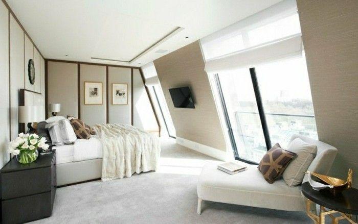 schlafzimmer einrichten mit dachschrge stilvolles interieur mit erholungsbereich - Schlafzimmer Einrichten Mit Dachschrgen