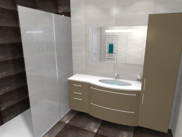Salle de bain avec représentation d\u0027un meuble #Stocco et d\u0027un