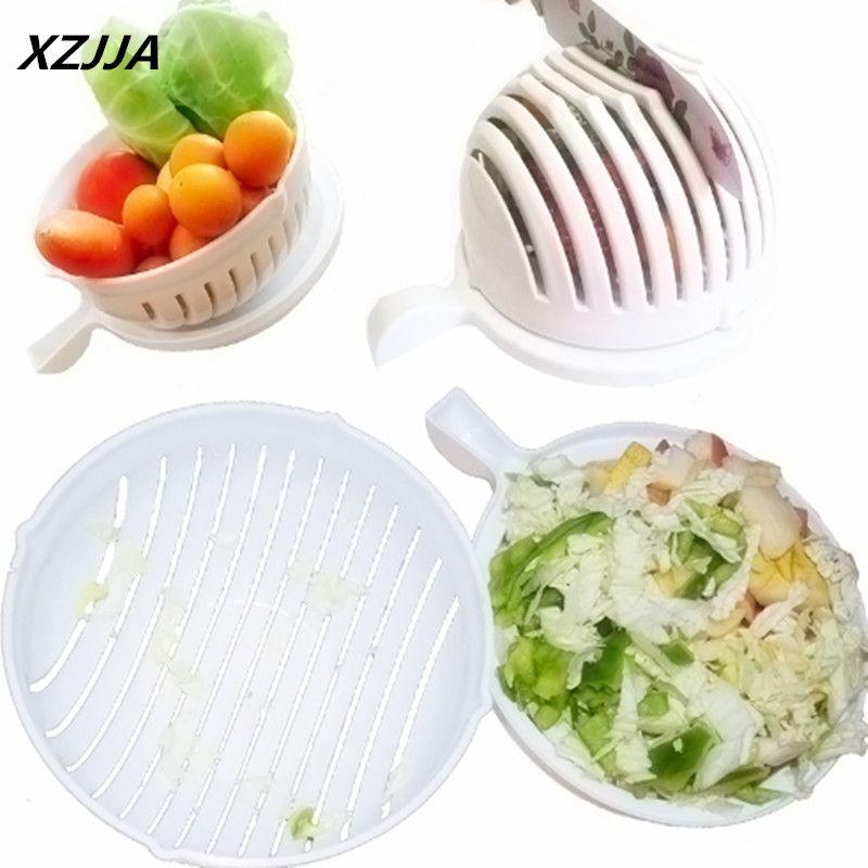 XZJJA Plastic Salad Cutting Bowl Magic Salad Maker Chop Fresh ...