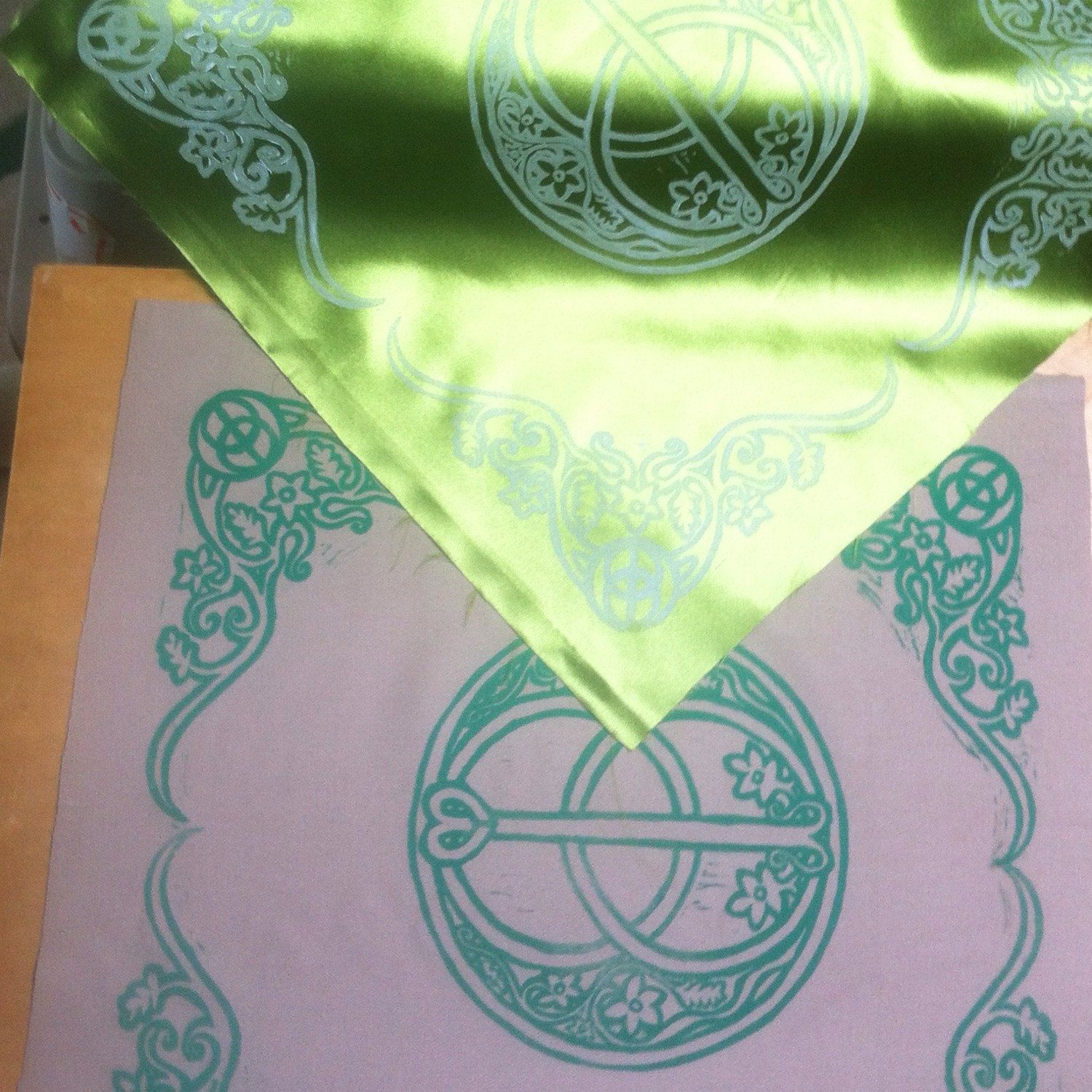 Busy printing new Chalice Well altar cloths