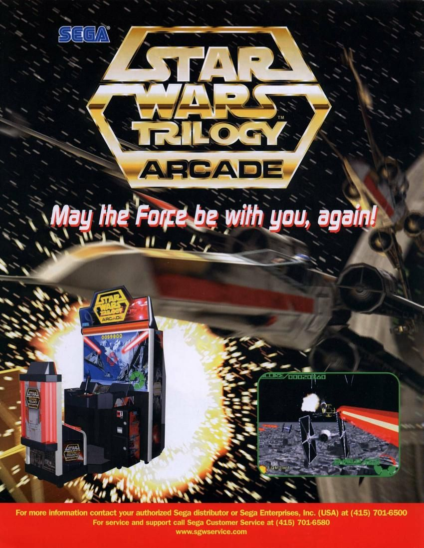 Star Wars Trilogy Arcade Game Flyer - (1998) - #arcade #retrogaming #oldschool #flyers