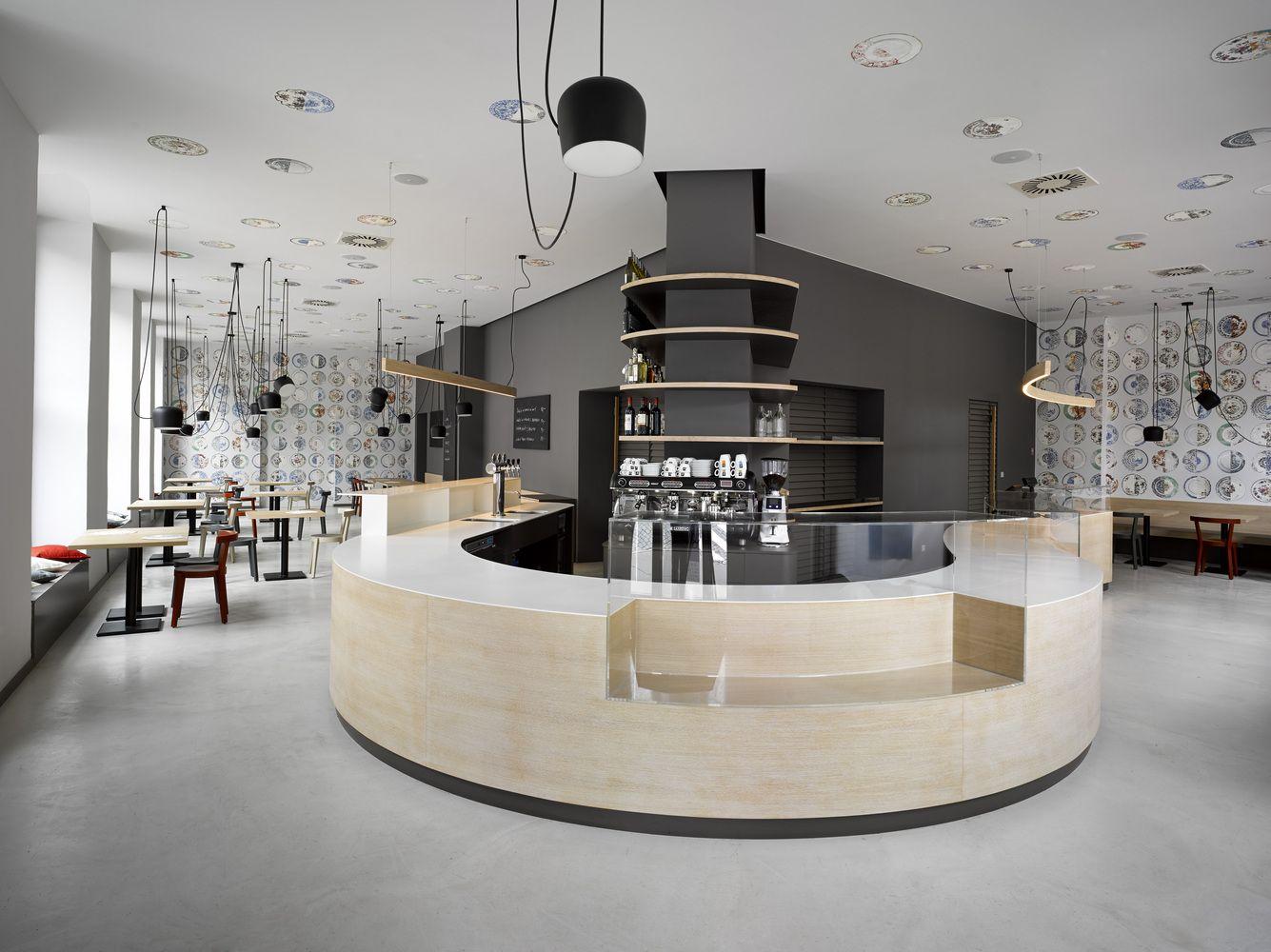 Cafe in prague proves minimalist interiors can be playful gallery of cafe bistro bakery zahorsky jra jarousek rochova architekti 3